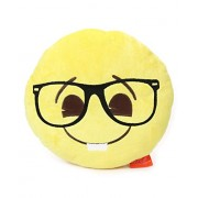 "Emoji Plush Pillow - Best Gift for Friends, Family, Home, Car & Loved ones | Emoticons as Stuffed Soft Toys | Premium Quality - Import | Certified Safe (EN71) & Official ""emoji"" - The Iconic Brand by My Baby Excels (Emoji Nerd Face)"