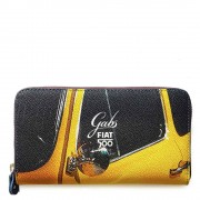 Gabs Portafoglio Donna Studio Linea Fiat 500 Stampa Specchietto