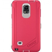 OtterBox Samsung Galaxy Note 4 Case Defender Series - Retail Packaging - Neon Rose (Whisper White/Blaze Pink)