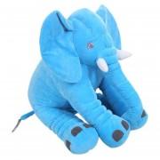Eh Peluche De Elefante Almohada 28x33cm - Azul