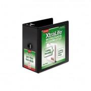 "Xtralife Clearvue Non-Stick Locking Slant-D Binder, 6"" Cap, 11 X 8 1/2, Black"