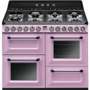Aragaz SMEG Victoria TR4110RO, 110X60cm, 7 arzatoare, cuptor triplu electric, timer, aprindere electronica, roz