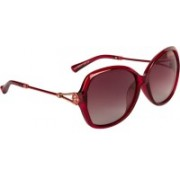 Farenheit Over-sized Sunglasses(Red)