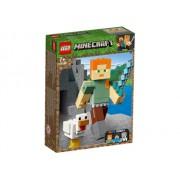 LEGO R Minecraft - Alex Minecraft BigFig cu gaina