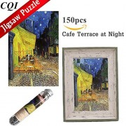 Cqi Jigsaw Puzzles 150 Piece - Cafe Terrace At Night By Vincent Van Gogh Mini For Adults Kids