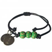 Simbi Pipeline Beaded Bracelet Emerald