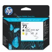 Глава HP 72, Matte Black + Yellow, p/n C9384A - Оригинален HP консуматив - печатаща глава