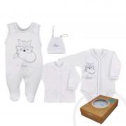 KOALA 4-dílná kojenecká souprava Koala Fox Love bílá 38532
