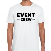 Bellatio Decorations Event crew / personeel tekst t-shirt wit heren