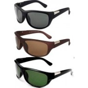 Averhub Sports, Over-sized Sunglasses(Black, Brown, Green)