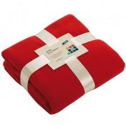 James & Nicholson Fleece deken rood