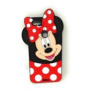 Oytra Mobile Phone Cover | 3D Design Printed | Material - Soft Silicone | Designer Covers & Cases (Oppo F5, Mickey & Minnie Mouse)