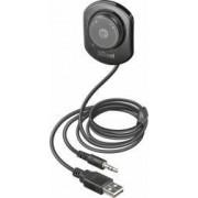 Car Kit Trust 2in1 Bluetooth Casti si Music Receiver Negru