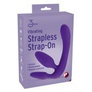 Triple3Teaser - tartópánt nélküli felcsatolható vibrátor (lila)