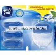 Ambi Pur Wc Frissítő Készülék + Utántöltő Fresh Water & Mint 4x55ml
