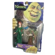 "Dreamworks Movie Series Year 2001 ""Shrek"" 6 Inch Tall Action Figure Princess Fiona With Leg Kicking Action Plus Tree With Bird And Birds Nest"