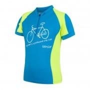 gyermek kerékpáros mez Sensor CYKLO NEVEZÉSI kék / sárga reflex 17100102