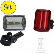 LED Fietsverlichting Set Voor en Achterlicht – 6x5cm   Fietslamp   Voorlicht   Rood Fietslicht   Wit Fietslicht