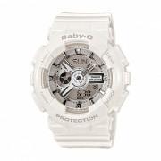 reloj digital analogico para mujer casio baby-g BA-110-7A3 y correa de resina negra-blanco