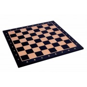 Tablă de șah din mahon închis, cu adnotare