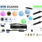 NTR ECAM40 Vízálló endoszkóp kamera 640x480 5,5mm átmérő 6LED USB-C/microUSB/USB 5m (flex)