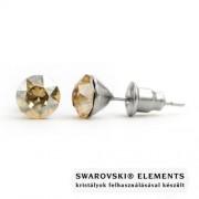 """Jazzy arany színű SWAROVSKI® kristályos fülbevaló """"Leo"""" - Kerek Golden Shadow"""