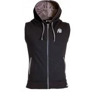 Gorilla Wear Springfield Sleeveless Zipped Hoodie - Zwart - L