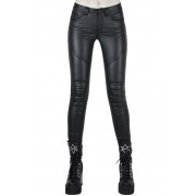 Pantaloni da donna KILLSTAR - Nocturnal Coated Jeans - NERO - KSRA001523