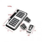 AST Works 4pcs Car Clutch Brake Accelerator Pedal Footrest Pad Cover for VW/Golf 7 GTI MK7