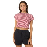 Silent Theory Bite The Bullet Crop Tee Red White