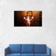 Tablou Canvas Artistic Femeia cu globul magic 40 x 70 cm