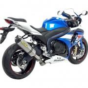 Arrow Exhaust Motorrad-Endschalldämpfer Arrow Race-Tech Motorrad Auspuff für GSX-R 1000 12-16 Titan/Carbon silber