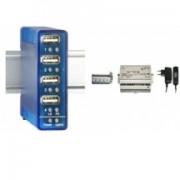 W&T Hub USB 2.0 pour utilisation industrielle, 4 ports pour