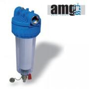 Filtru sedimente AMG autocuratare cu robinet purjare