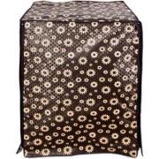 Black Floral Waterproof & Dustproof Washing Machine Cover For Front Load Haier HW60-1279 6 kg