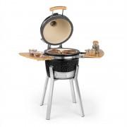 """Klarstein Princesize Pro, kamado grill, 13 """"(33 cm), hőmérő, oldalelemek, fekete (GQR5- Prince.Pro- BL)"""