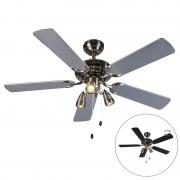 QAZQA Ventilatore grigio/nero - MISTRAL 42
