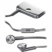 . In-ear headset med iPhone-koppling, volymkontroll och svarsknapp 1,2m platt kabel, svart