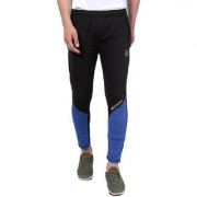Pause Sport Black Solid Dry-Fit Slim Fit Ankle Length Track-Pant