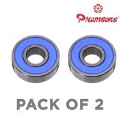 Premsons 608 Ball Bearing - Pack of 2 - for Hand Spinner Fidget Kit and Skateboard, 22x10x7 mm Skate Bearings Toy Replacement Part - Blue