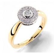 Prsten s diamantem, žluté zlato 381-1339, GEMS Melania - zásnubní prsten