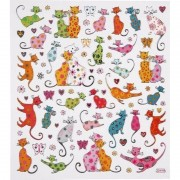 Merkloos Katten stickers