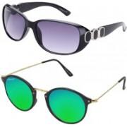 Elegant Over-sized Sunglasses(Multicolor)