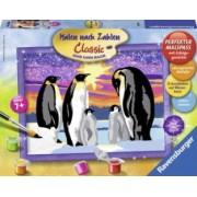 Pictura Pe Numere Familie de Pinguini Ravensburger