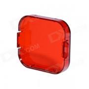 Profesional de buceo filtro de vivienda para gopro hero 3 - rojo