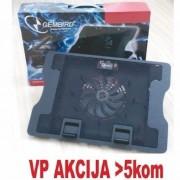 "N2000FS** Gembird hladnjak za laptop 15-17"" 140mm Fan-CONTROL, 2xUSB, 370x265mm, Ergo Stand(615)"