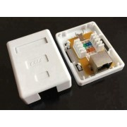 CAT6 Shielded Single RJ45 Wall Box / Surface Mount Box