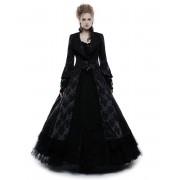 Ženski kaput PUNK RAVE - Black Ruby Gothic ball - WY-844/BK