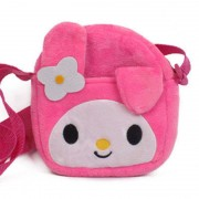 Pink Bunny Melody Sling Baby Bag Stuffed Soft Plush Toy