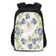 Cameon Mochila escolar impermeable antirrobo, con diseño floral, clásico, natural, vibrante, para adolescentes, Multi07, W10.6 x H15.7 inch